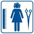 Fryzjer damski - znak informacyjny - RA009
