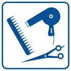 Fryzjer - znak informacyjny - RA008