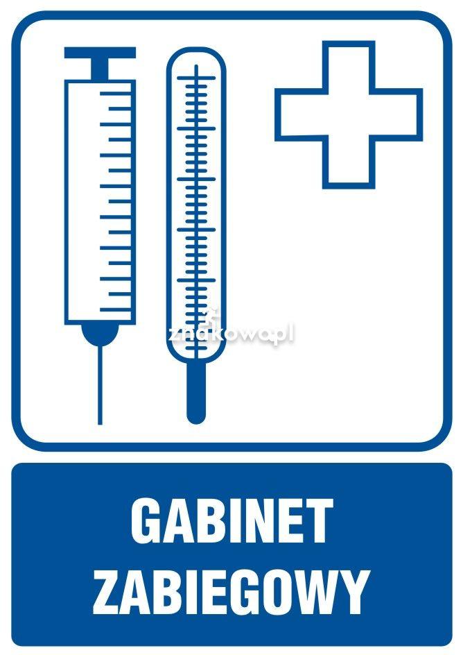 Gabinet zabiegowy - Placówki służby zdrowia – oznaczenia