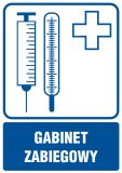 Gabinet zabiegowy - znak informacyjny - RF002 - Placówki służby zdrowia – oznaczenia