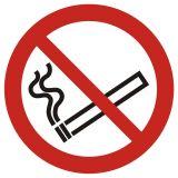 GAP002 - Zakaz palenia tytoniu - znak bhp zakazujący - Znaki BHP w miejscu pracy (norma PN-93/N-01256/03)