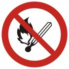 GAP003 - Zakaz używania otwartego ognia, zakaz palenia tytoniu - znak bhp zakazujący
