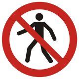GAP004 - Zakaz przejścia - znak bhp zakazujący - Znaki BHP w miejscu pracy (norma PN-93/N-01256/03)