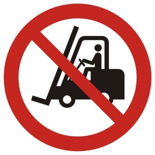 GAP006 - Zakaz ruchu urządzeń do transportu poziomego - znak bhp zakazujący