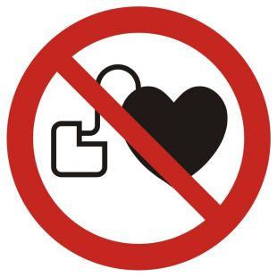GAP007 - Zakaz wstępu osobom ze stymulatorem serca - znak bhp zakazujący
