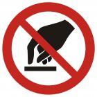 GAP010 - Nie dotykać - znak bhp zakazujący