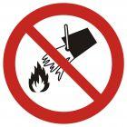 GAP011 - Zakaz gaszenia wodą - znak bhp zakazujący