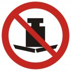 GAP012 - Zakaz umieszczania ciężkich przedmiotów - znak bhp zakazujący