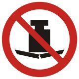 GAP012 - Zakaz umieszczania ciężkich przedmiotów - znak bhp zakazujący - Znaki BHP w miejscu pracy (norma PN-93/N-01256/03)