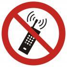 GAP013 - Zakaz używania telefonów komórkowych - znak bhp zakazujący