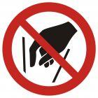 GAP015 - Zakaz wkładania rąk do środka - znak bhp zakazujący