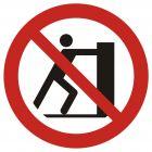 GAP017 - Zakaz pchania - znak bhp zakazujący
