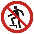 GAP019 - Zakaz chodzenia po powierzchni - znak bhp zakazujący