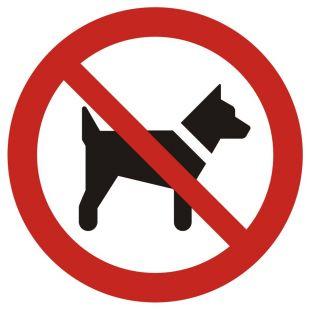 GAP021 - Zakaz wstępu ze zwierzętami - znak bhp zakazujący