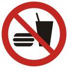 GAP022 - Zakaz wstępu z jedzeniem i piciem - znak bhp zakazujący