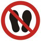 GAP024 - Zakaz chodzenia i stawania - znak bhp zakazujący