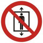 GAP027 - Zakaz używania windy przez ludzi - znak bhp zakazujący
