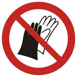 GAP028 - Zakaz używania rękawic roboczych - znak bhp zakazujący