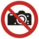 GAP029 - Zakaz fotografowania - znak bhp zakazujący - Barwy i kształty znaków bezpieczeństwa