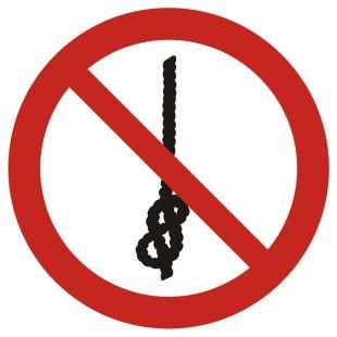GAP030 - Zakaz wiązania węzłów - znak bhp zakazujący