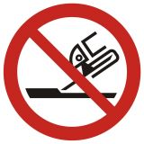 GAP032 - Zakaz używania szlifierki - znak bhp zakazujący - Instrukcje BHP dla obcokrajowców