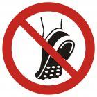 GAP035 - Zakaz wchodzenia w obuwiu z metalowa podeszwą