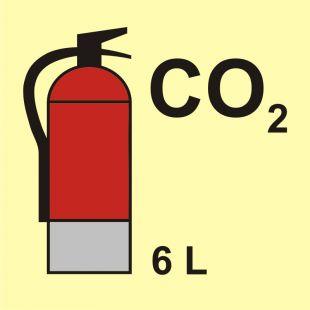 Gaśnica (CO2-dwutlenek węgla) 6L - znak morski - FI097
