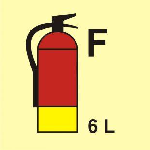 Gaśnica (F-piana) 6L - znak morski - FI098