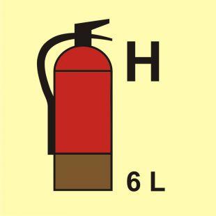 Gaśnica (H-gaz) 6L - znak morski - FI099