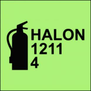 Gaśnica halonowa 1211/4 - znak morski - FA067