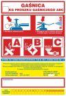 Gaśnica .....kg proszku gaśniczego ABC - naklejka, nalepka na gaśnicę - CA018