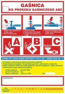 Gaśnica .....kg proszku gaśniczego ABC - ogólna nalepka na gaśnice - CA001
