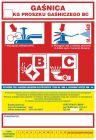 Gaśnica .....kg proszku gaśniczego BC - naklejka, nalepka na gaśnicę - CA019