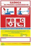 Gaśnica .....kg proszku gaśniczego BC - naklejka, nalepka na gaśnicę - CA019 - Prace niebezpieczne pod względem pożarowym