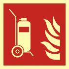 Gaśnica kołowa - znak przeciwpożarowy ppoż - BAF009
