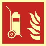 Gaśnica kołowa - znak przeciwpożarowy ppoż - BAF009 - Normy dotyczące znaków bezpieczeństwa
