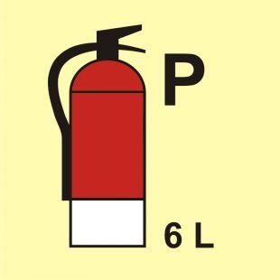 Gaśnica (P-proszek) 6L - znak morski - FI100
