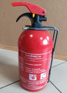 Gaśnica proszkowa 1kg B/C - Gaz-Tech GP-1Z - samochodowa - Podręczny sprzęt gaśniczy – rodzaje