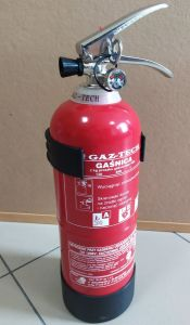 Gaśnica proszkowa 2kg ABC/E - Gaz-Tech GP-2X - Podręczny sprzęt gaśniczy – rodzaje