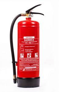 Gaśnica proszkowa 6kg ABC/E - Gaz-Tech GP-6X - Podręczny sprzęt gaśniczy – rodzaje