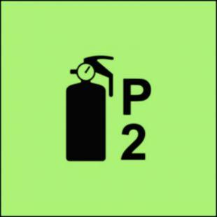 Gaśnica proszkowa P2 - znak morski - FA069