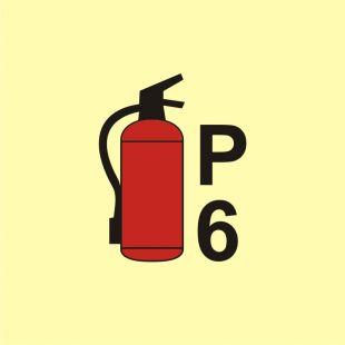 Gaśnica proszkowa P6 - znak morski - FA065