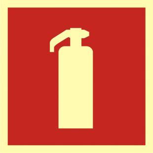 Gaśnica - znak przeciwpożarowy ppoż - BA007
