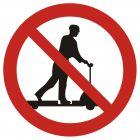 GB001 - Zakaz jazdy na urządzeniach transportowych - znak bhp zakazujący