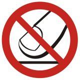 GB010 - Nie dotykać - znak bhp zakazujący - Warsztat samochodowy – bezpieczeństwo i znaki BHP