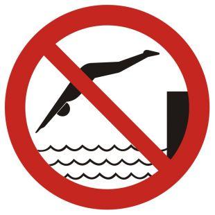 GB015 - Zakaz skakania do wody - znak bhp zakazujący