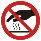 GB019 - Nie dotykać. Gorąca powierzchnia - znak bhp zakazujący