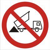 GB028 - Zakaz wysypywania - znak bhp zakazujący - Plac budowy – znaki i tablice