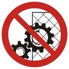 GB031 - Zakaz zdejmowania osłon podczas pracy urządzenia - znak bhp zakazujący
