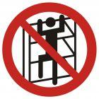 GB032 - Zakaz wchodzenia na regały - znak bhp zakazujący